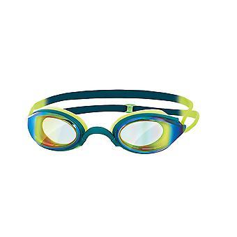 Zoggs Unisex Adult fusion Air Mirror simning Goggles grön/lime/Mirror en storlek