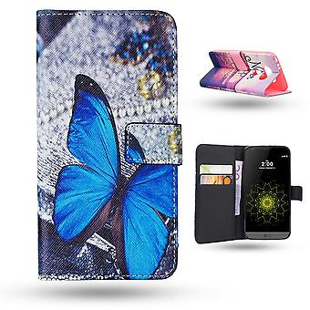 Lg G5 Case/wallet leather-Butterfly