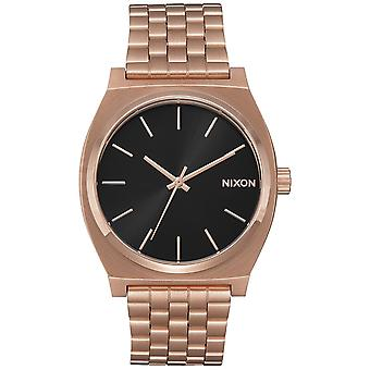 Nixon time teller Quartz Analog Man Watch with Stainless Steel Bracelet In Gold-Plated A0452598