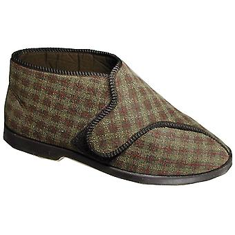 GBS Mens Keswick Touch Fastening Bootee Brown