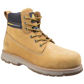Amblers Safety Mens AS170 Lightweight Full Grain Leather Safety Boot Honey