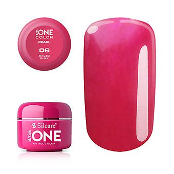Base one-Pearl-Salsa pink 5g UV gel
