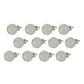 Duidelijke diamant geslepen bal Crystal kabinet knop of lade trekt loodvrije set van 12