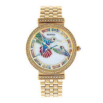ברטה אמילי אמא-של-פנינה צמיד שעונים-זהב