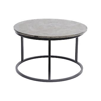 Libra Furniture Golden Metallic And Black Circular Coffee Table