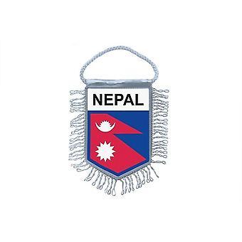 Fanion Mini Drapeau Pays Voiture Decoration Nepal Nepalais