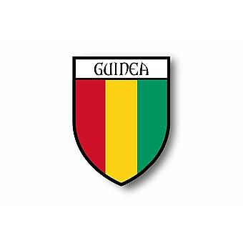 Sticker Sticker Car Moto Blason City Flag Guinee Guineen