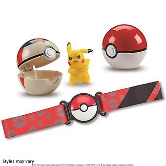 Pokemon Clip & N' Go Poké Ball Belt Set - Pikachu, Poké Ball & Timer Ball