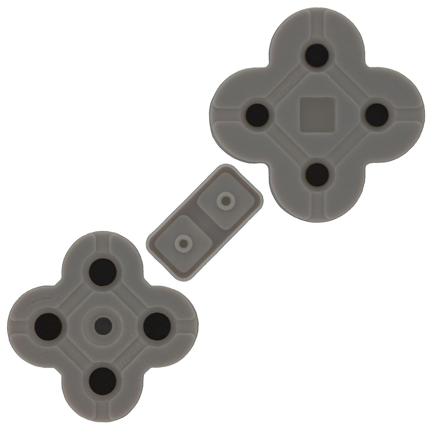Replacement conductive rubber pad button contacts gasket a b x y d-pad kit for nintendo ds lite (dsl ndsl)