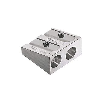 Faber-Castell 185710Double Pencil Sharpener Metal for Colour and Chalk Pens