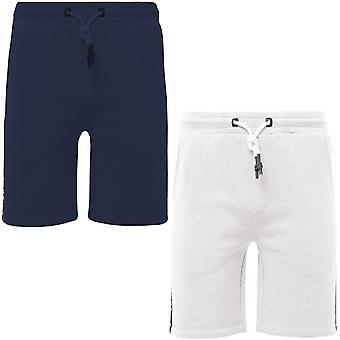 Kangol Mens Troy Plus Big Tall Fleece Sports Jersey Jogger Sweat Shorts Pantalon
