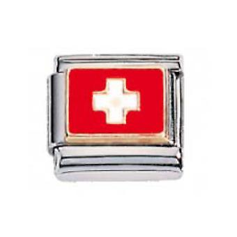 ZOPPINI S.Steel Flag-Swiss Charm