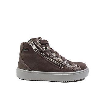 Superfit 06498-90 Purple Nubuck Leather Girls Lace/Zip Up Hi Top Boots