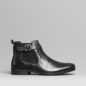 Silver Street London Grafton Mens Leather Ankle Boots Black