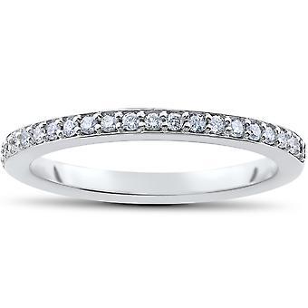 1/4ct Lab Created Diamond Wedding Ring in 14k White Yellow Rose Gold or Platinum
