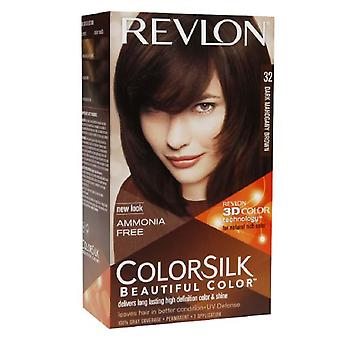 Revlon colorsilk beautiful color, dark mahogany brown 32, 1 ea