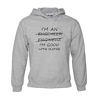 Men-apos;s i-apos;m un ingénieur bon en maths hoodie