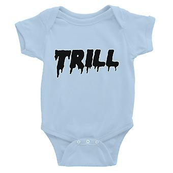 365 Printing Trill Baby Bodysuit Gift Sky Blue Infant Jumpsuit Baby Shower Gift