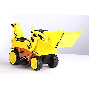 Children's electric car excavator tractor yellow with shovel 6V4.5Ah battery, payload 20 kg