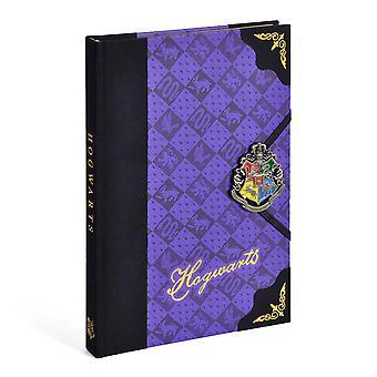 Harry Potter Premium Notizbuch Hogwarts Wappen Hardcover, gebunden, mit handemailliertem Emblem, liniert.