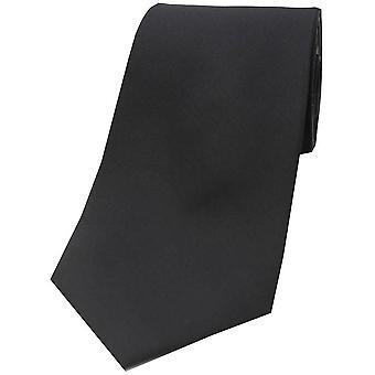 David Van Hagen Satin Polyester Tie - Black