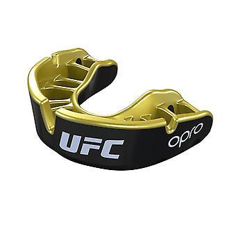 OPro Junior UFC guld munskydd svart metall/guld