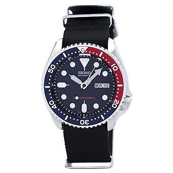Seiko Automatische Taucher's 200m Nato Strap Skx009k1-nato4 Herren's Uhr