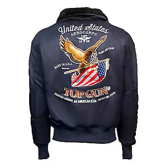 Top Gun Eagle CW45 Bomber Jacket Navy