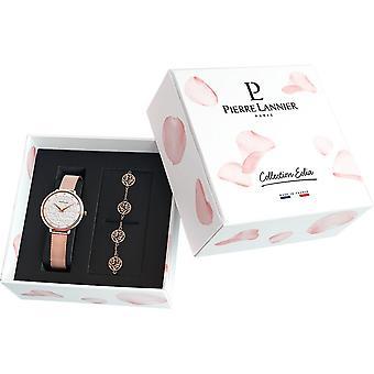 Watch Pierre Lannier 362G 908 - steel Dor Rose + woman Bracelet