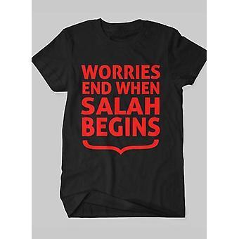 When salah begins islamic half sleeves t-shirt