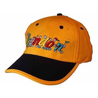 Boné de beisebol infantil unisex bordado Londres Logos verão chapéu de sol vermelho