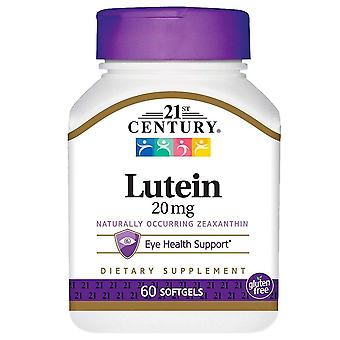 21st century lutein, 20 mg, softgels, 60 ea