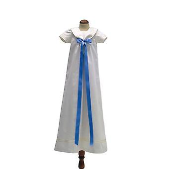 Dopklänning Grace Of Sweden - Sjömansklänning Med Ljusblå Rosett