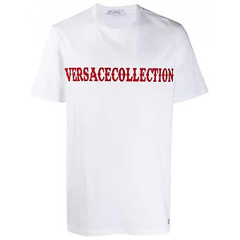 Versace Collection Cotton Printed Logo White T-shirt