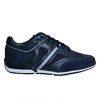 Hugo Boss Footwear Hugo Boss Men's Dark Blue Saturn Lowp Strf2 Trainers