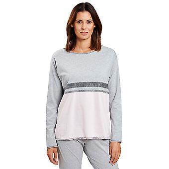 Rösch 1204086-16422 Dames's Smart Casual Rose Grey Loungewear Top