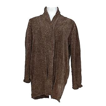 Anybody Women's Sweater Chenille Relaxed Blazer Cardigan Beige A310158