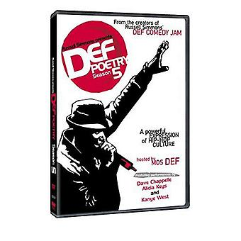 Def Poetry-kausi 5 (2002) DVD Mos Def, Russell Simmons, Alicia Avaimet