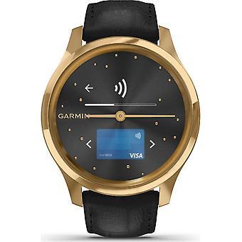 Garmin - Hybrid Watch - vivomove Luxe Gold-Black - 010-02241-02