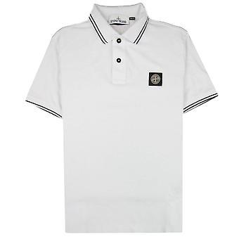 Stone Island 22S18 Slim Fit camisa pólo branco V1001