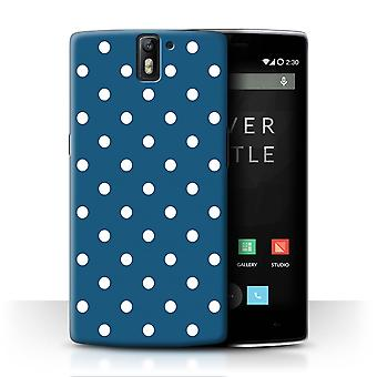 STUFF4 Case/Cover for OnePlus One/Teal Polka Dot/Winter Fashion