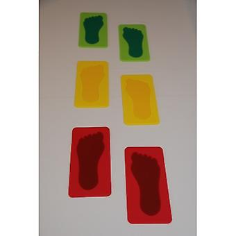 EVB-0099, Kids Feet - set of 3 pairs in red, green, yellow