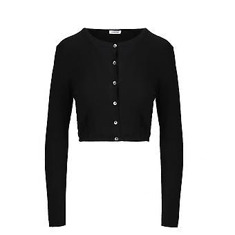 P.a.r.o.s.h. D520659013 Women's Black Wool Cardigan