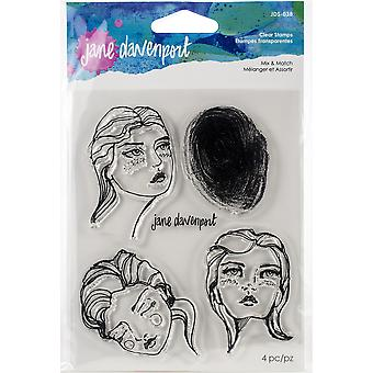 Jane Davenport Mix & Match Clear Stamps