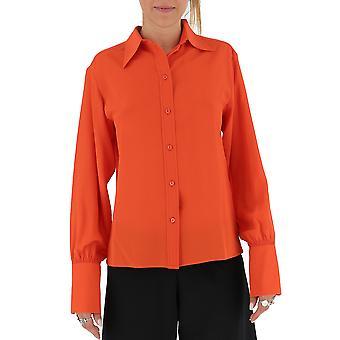 Chloé Chc19aht49004831 Women's Orange Silk Shirt