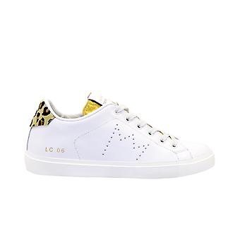 Cuir Crown Wlc06614 Women-apos;s Leopard Leather Sneakers