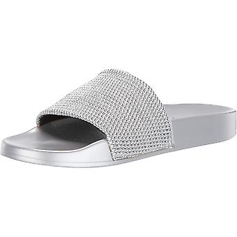 Katy Perry Women's The Jimmi Flat Sandal, silver, 7 Medium US