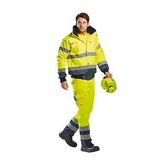 Portwest hi-vis Kontrast Bomber Workwear Jacke Mantel c465