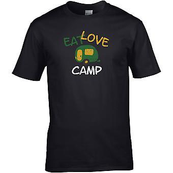 Essen Love Camp - Wohnwagen - - DTG gedruckt T-Shirt