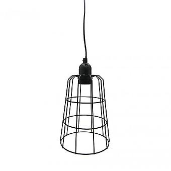 Furniture Rebecca Lamp Suspended Modern Metal Black Chandelier E14 20x15x15